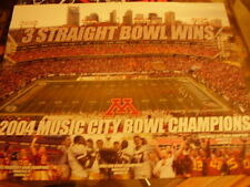 Minnesota Golden Gophers Football 2004 Music City Champions Poster Over Alabama