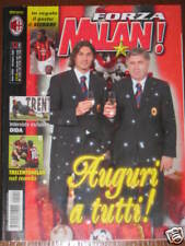 FORZA MILAN 2002/12 POSTER CLARENCE SEEDORF BERLUSCONI ANCELOTTI MALDINI