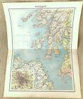 Antique Map of Scotland Glasgow Argyll Mull Kintyre Arran Islay Perth Jura 1893