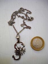 collana acciaio scorpione ciondolo pendolo catenina bigiotteria uomo donna