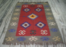 Handmade Kilim Rug Silk Carpet Rug New Turkish Rug Silk Dhurrie Hand Woven Rug