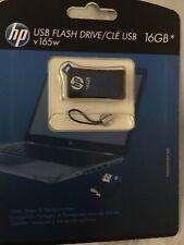 HP 16GB USB 2.0 Flash Drive - Blue New Retail Pack