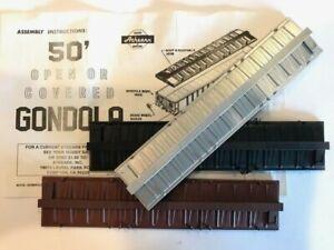 Athearn HO Gondola Car Part #16758 Roof & Roofwalk Choose Brown, Silver or Black