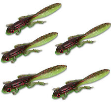 20PCS Soft Fishing Lure Silicone Frog Bait Jig Head Wobbler Swimbait 3.15in 3.5g