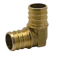 "(5) 3/4"" PEX ELBOWS - BRASS CRIMP FITTING - LEAD FREE (Pack of 5)"
