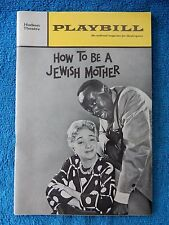 How To Be A Jewish Mother - Hudson Playbill - Opening Nite - December 28th, 1967