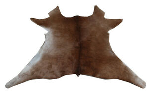 "Cowhide Rugs Calf Hide Cow Skin Rug (23""x28"") Brown and White CH8127A"