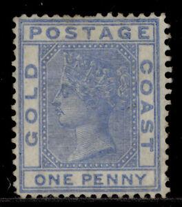 GOLD COAST QV SG5, 1d blue, UNUSED. Cat £45.