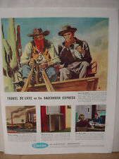 1949 Carrier Air Conditioning Sagebrush Expres Stagecoach Vintage Print Ad 10111