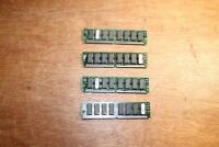 Lot of 4 pcs VTG IBM PC 4MB RAM MEMORY 32/36 Dram Module 72 pin (16 Mb Total)