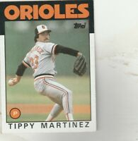 FREE SHIPPING-MINT-1986 Topps #82 Tippy Martinez Orioles PLUS BONUS CARDS
