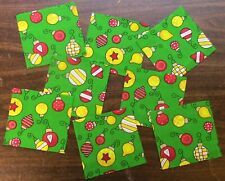 8 Scrappy Precuts - Christmas Balls - Sewing Quilting 100% Cotton Fabric
