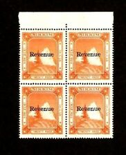 SIKKIM 20 PAISE 1971 FISCAL OVPT *REVENUE* Block STAMP INDIA INDIAN HISTORY ITEM