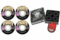 Dynamite Forever 50mm Skateboard Wheels + Spitfire Bearings