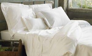 Pair of  White Colour Oxford Pillow Cases T200  Luxury Egyptian Cotton