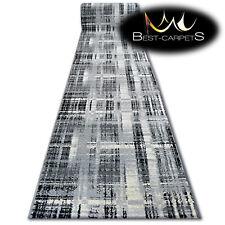 Modern Hall Runner FUNKY TOP LIT grey checkered Width 80 - 100 cm long AGNELLA