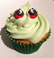 12 Royal Icing Ladybirds Handmade edible sugar piping cake topper decoration 1cm