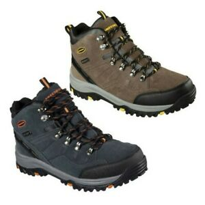 Skechers Mens Relment Pelmo Waterproof Hiking Walking Cushioned Ankle Boots