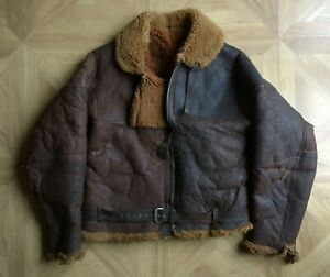 Vintage 1940s WW2 Irvin Leather Sheepskin RAF flying Jacket