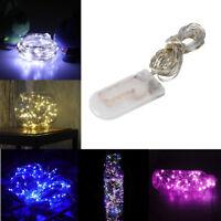 3M 30 LEDs Lichterkette Knopf Cell Powered Silber Kupferdraht Mini Fairy String