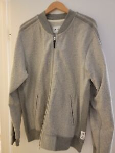 ADIDAS ATHLETICS REIGNING CHAMP MEN'S XXL  BOMBER JACKET GRAY