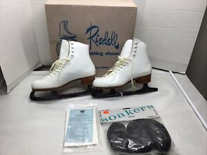 Vintage Riedell Model 320 N Ice Skates Women's Size 6 1/2  with Box