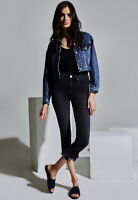 MCGUIRE DENIM Valletta Cropped Asymmetrical Fray Hem Straight Jeans Grey $242 #3