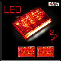 2x 27 Led Rear Tail Stop Fog License Number Plate Lights Truck Trailer Lorry Van