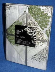 HOME CHIC Table Linen Set (Tablecloth / runner / 4x napkins) <DHALIA>