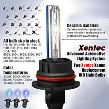 For 9006 9007 9005 H1 H3 H4 H7 H10 H11 H13 Two Replacement Xenon HID Light Bulbs