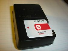 Original Sony BC-CSGD Digital Camera Battery Charger with Battery G Type NP-BG1