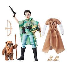 Star Wars Princess Leia & Ewok Wicket Organa Action Figure Doll Disney Store Usa