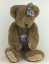 """The Vermont Teddy Bear Co Baby Diaper 17"""" Plush Stuffed Poseable Vintage 1994"""
