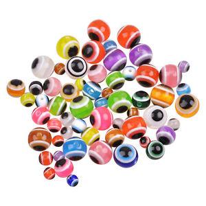 100pcs Fishing Eye Fishing Beads Acrylic Fishing Line Beads Mixed Color Rigging
