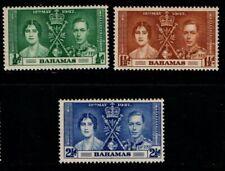 Bahamas 1937 King George VI Coronation SG146-48 Mint MH