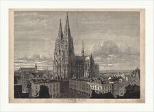 La Cologne Dom dans son achèvement Domkirche st. pierre sankt Gravure sur bois C 0078