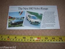 Gama de coche Volvo Mini FOLLETO Prospekt Raro 1983 catálogo Perfecto Estado