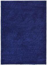 Soho Solid Color Shag Area Rug Navy Blue ,Antracite Black, Grey, Red ,White,Blue