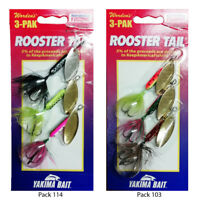 Wordens Rooster Tail Fishing Spinners, Assorted 3 Pack  3 Sizes 3.5g -5g & 7gm