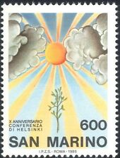 San Marino 1985 Sun/Sapling/Tree/Security Conference Anniversary 1v (n44099)