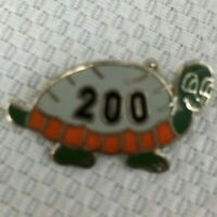 Vintage Tortoise Turtle 200 Club Bowling Lapel Pin Gold Tone Enamel Collectible