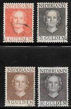 NVPH 534 - 537 gebruikt ('en face' 1949)