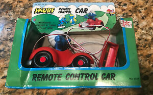 Smurf Remote Control Car with box as/is not working no. 2834