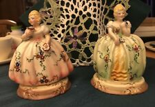 """Two Made in Italy Vintage 5"""" Victorian Women Figurine"""
