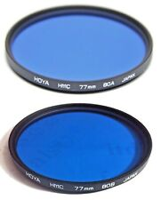 Hoya 77mm Multi-Coated HMC 80A 80-B 80-A 80-B Conversion Glass Lens Filter 77 mm
