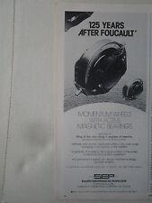 5/76 PUB SEP PROPULSION MOMENTUM WHEEL ACTIVE MAGNETIC BEARING LEON FOUCAULT AD