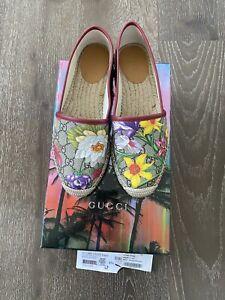 Gucci Floral Print Canvas Espadrilles