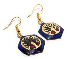 Fish Handmade Earrings Nep252 Charming Lapis Stone Tibetan Jewelry