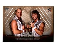 WWE Hollywood Blonds 2016 Topps Undisputed Tag Teams Parallel Card SN 95 of 99
