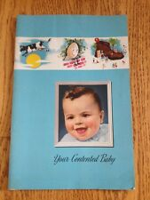 Vtg 1946 Carnation Your Contented Baby Care Recipe Book Ad Milk Cows Letter